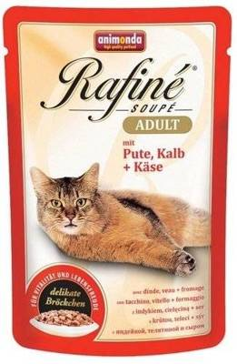 ANIMONDA Cat Rafine Soupe Adult smak: Indyk & cielęcina + ser 100g
